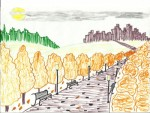 Богданова Анастасия,100шк. Осень в парке</p> <p>