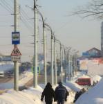 Ясное небо зимнего города