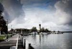 Конвективные облака над прудом