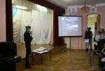 Представительница движения ЭКА с презентацией